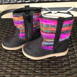 NWT Old Navy Colorful Wool Accent Boots